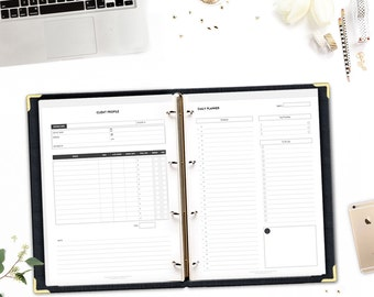 Printable Online Business Planner (Selling Services) • Small Business Organizer