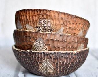Ceramic handmade pottery bowl for salats (make after order)