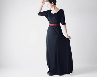 Long black dress, Maxi dress, Grecian dress, Long tunic, Evening dress, Floor length formal dress, Boho dress, Greek dress, Plus size dress