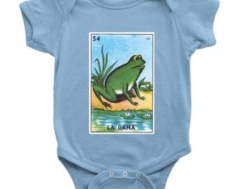 La Rana Card Loteria Baby Onesie Frog Mexican Bingo Bodysuit