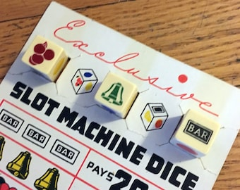 Vintage Slot Machine Dice Game