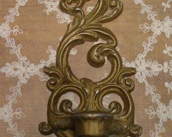 Metal  Antique  Escutcheon - Altered Art - Steampunk - Salvaged Hardware - Craft Supply