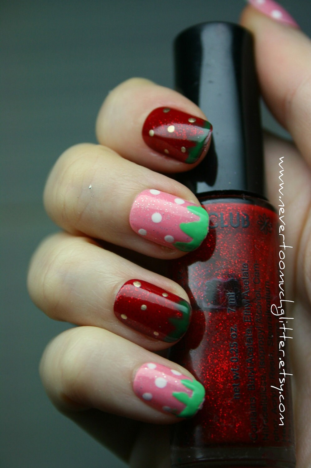 Sweet Strawberries Press On Nails 2 Sets of Cute Kawaii