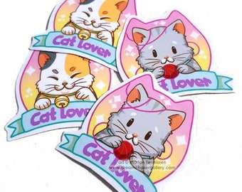 Cat lover stickers