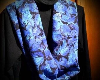 Blue /black scarf