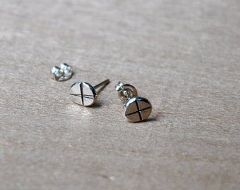 X Marks The Spot Silver Nail Studs - made to order