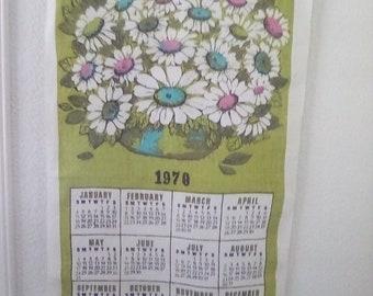 Vintage 1970 wall calendar