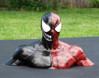 Spiderman/Venom bust