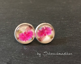 Earrings silver tropic
