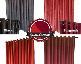 New Direct Velvet Curtain Manufacturer Custom by LushesCurtains FE12