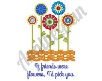 Friendship Flowers - Machine Embroidery Design