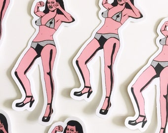 Burlesque sticker