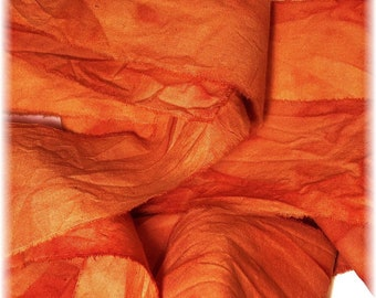 2 Yards Hand Dyed Cotton Ribbon/Quilt Binding in ORANGE for Your Creative Adventures!