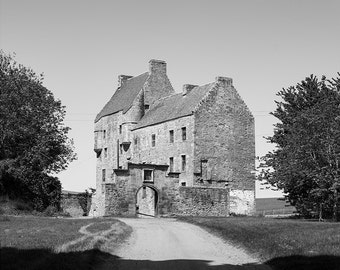 Lallybroch // Outlander // Scotland // Midhope Castle // Fine Art Print // Black and White Photograph // Wall Art // Decor