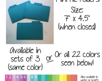 Mini File Folders for Sticker and/or Coupon Storage!