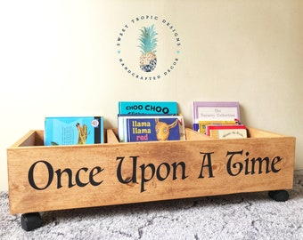 Once Upon A Time Bookcase, Nursery Decor, Kids Mini Library, Kids Bookshelf, Book Storage, Toy Storage, Baby Shower Gift, Kids Birthday Gift