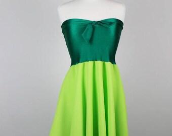 TINKERBELL Dress - Green Halloween Dress - Tinkerbell Costume - Peter Pan Dress - Handmade Halloween Costume - Disney Dress- Disney Costume
