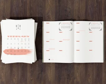 Bullet Journal and Daily Planner 2018 PRINTABLE