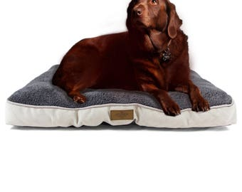 """Plush Crate Mat By Cozy Cuddlerz-Fleece Pet Mattress For Dogs And Cats-Comfortable Gray Cushion Bed In 2 Sizes-Fits 40"""" & 24"""" Kennels"""