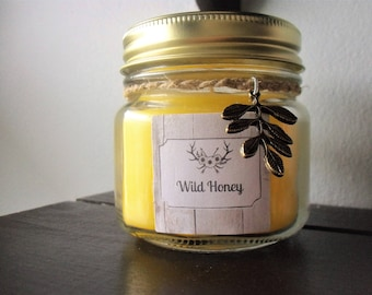 Wild Honey Scented Jar Candle