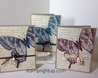 Vintage Inspired Swallowtail Butterfly Greeting Card