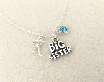 Gift for big sister etsy big sister necklace personalized gift for big sister gift big sister birthday gift sister negle Gallery