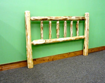 Rustic Log Headboard - Bolts to Existing Frame