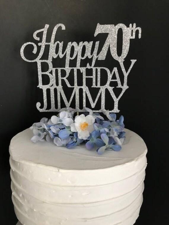 70th Birthday Cake Topper Custom Birthday Cake Topper 70th