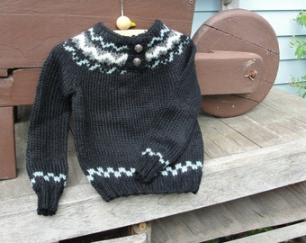 Black Fairisle Sweater