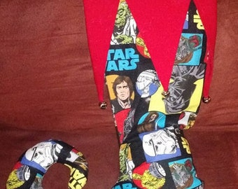 WHIMSICAL CHRISTMAS STOCKING made from Star Wars Fabric