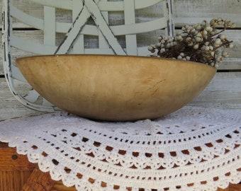 Vintage / Antique Wooden Bowl - Wood Bowl Rustic Farmhouse Decor - Primitive wood bowl