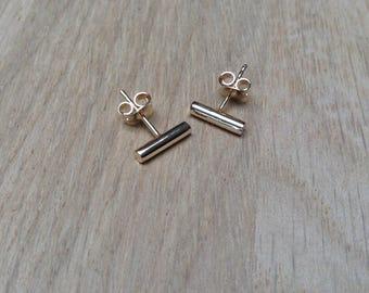 Earrings mini bar gold plated