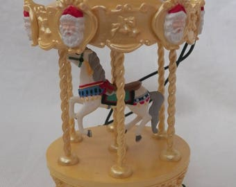 Vintage 1994 Hallmark Tobin Fraley Holiday Carousel #1 - Skater's Waltz - QLX7496