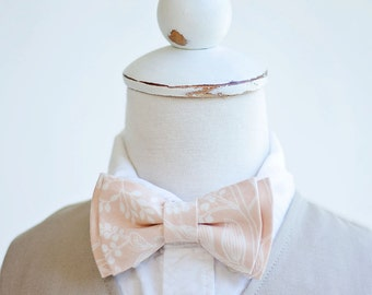 Bow Tie, Bow Ties, Boys Bow Ties, Baby Bow Ties, Bowties, Ring Bearer, Wedding Bow Ties, Rifle Paper Co - PRE-ORDER Queen Anne In Peach