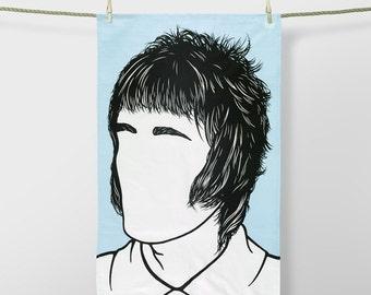 Liam Gallagher Tea Towel, Liam Gallagher Towel, Liam Gallagher Kitchen Towel, Liam Gallagher Merchandise, Blue Tea Towel, Blue Dishcloth