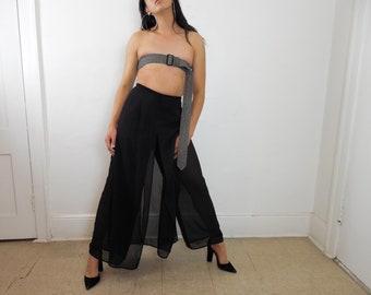 Vintage sheer paneled pants