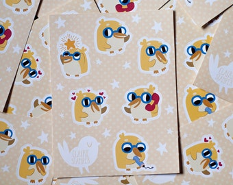 Yellow Penguins Sticker Sheet