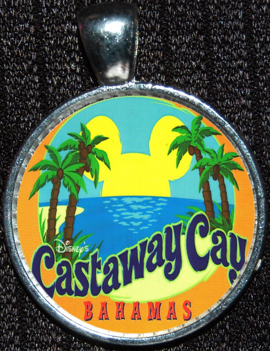Disney Cruise Line Ship Castaway Cay Beach Clouds Silver