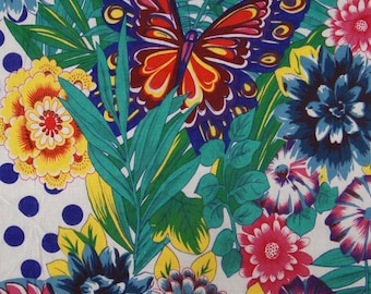 """Multicolor Floral Printed Fabric Decorative Craft 42"""" Wide Designer Fabric For Sewing Dressmaking Material Apparel Fabric By 1 Yard ZBC7148A"""