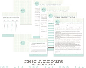 Marketing Business Forms for Photographers Contract Templates INSTANT DOWNLOAD