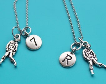ZOMBIE Stainless Steel Necklace,Initial or Number,zombie,Halloween,undead,science fiction,sci fi,1538