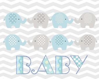 Elephant Baby Wall Art