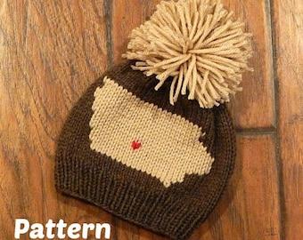 Iowa Hometown Knit Hat Pattern : Knitting Pattern, Baby Hat, Toddler Hat, Child Hat, Adult Hat