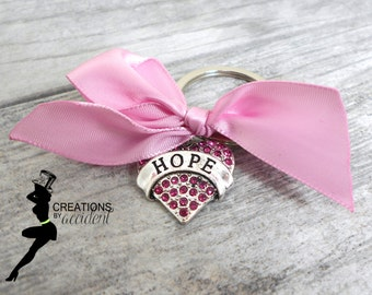Hope Keychain | Breast Cancer Keychain | Breast Cancer Awareness Keychain | Pink Awareness Keychain | Support Keychain | Survivor Keychain