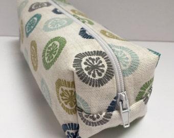 handmade cotton fabric pencil case/makeup bag/storage bag