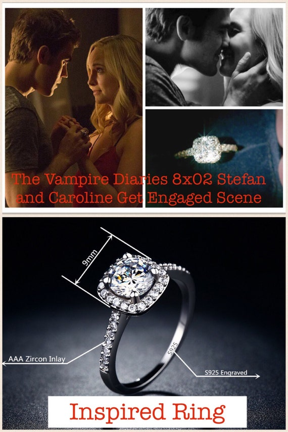 The Vampire Diaries Inspired Caroline Engagement Wedding Ring