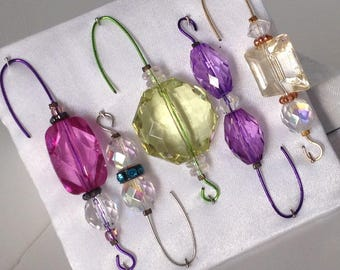 Beaded Ornament Hangers - Colorful Assortment  - FREE SHIPPING