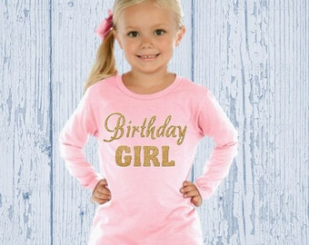 Gold Birthday Shirt - Pink and Gold