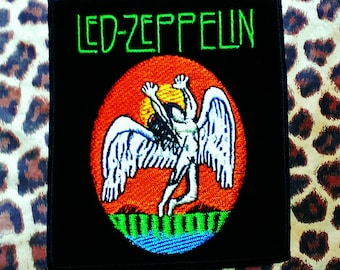 Led Zeppelin Embroidered Iron -On Patch 3 1/2'' X 4'' Very Nice Quality!!