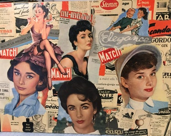 Magazine Collage magazine table authentic vintage 50s